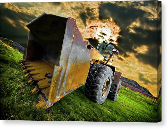 Front End Canvas Print - Dramatic Loader by Meirion Matthias