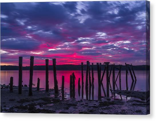 Dramatic Maine Sunrise Canvas Print