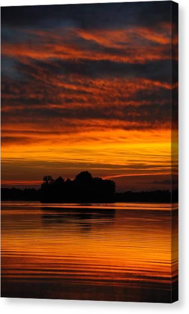 Dramatic Sunset Canvas Print by M James McAdams