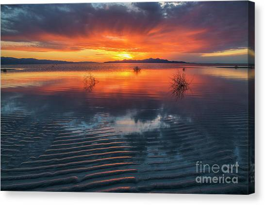 Canvas Print featuring the photograph Dramatic Sunset by Spencer Baugh