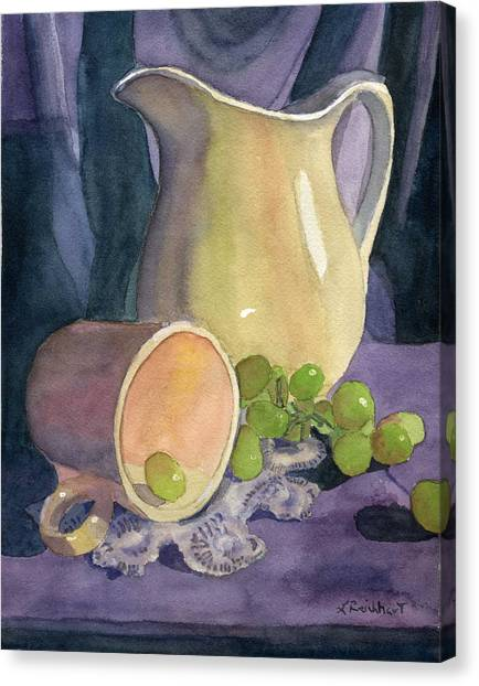 Drapes And Grapes Canvas Print