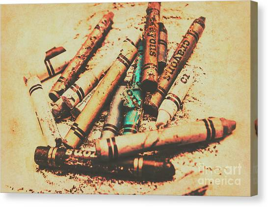 Supplies Canvas Print - Draw Of Vintage Art by Jorgo Photography - Wall Art Gallery