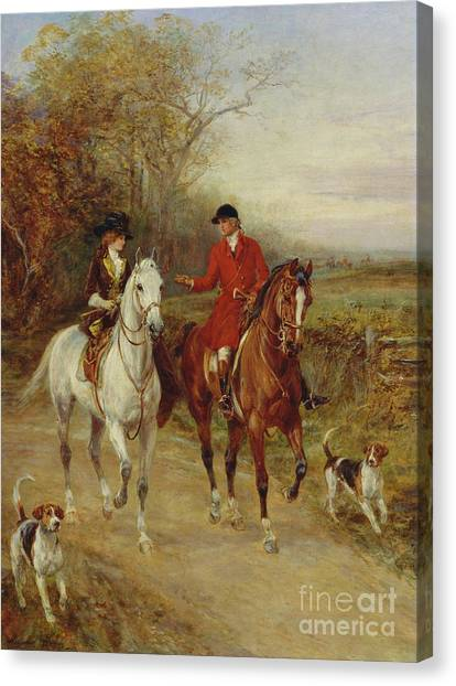 Beagles Canvas Print - Drawing Cover by Heywood Hardy