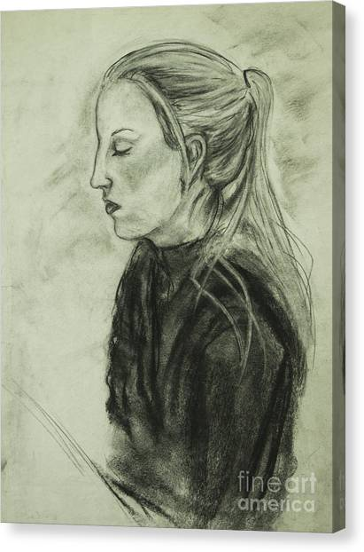 Drawing Of An Artist Canvas Print