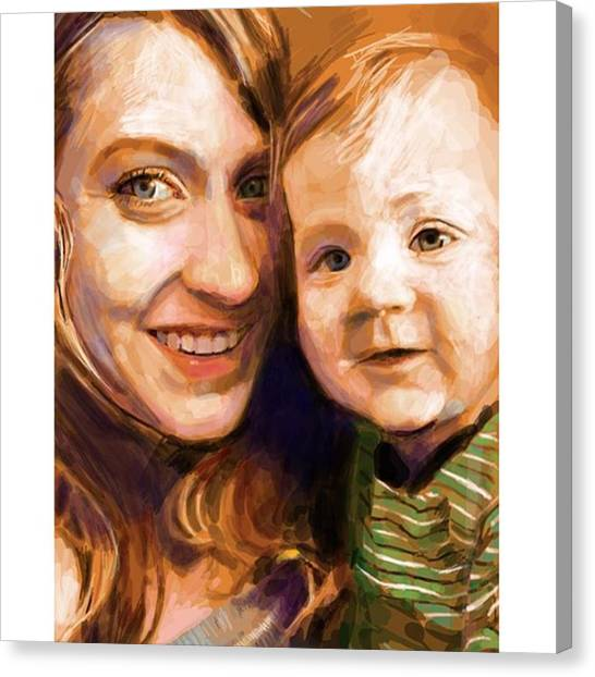 Realism Art Canvas Print - #drawings4donations #frenchgirlsapp by James Garza