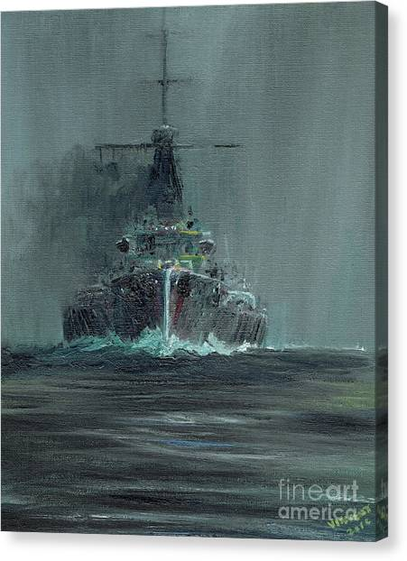Dreadnought Canvas Print - Dreadnought 1907 by Vincent Alexander Booth