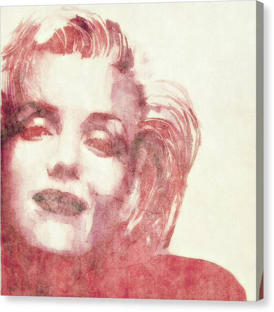 Marilyn Monroe Canvas Print - Dream A Little Dream Of Me by Paul Lovering