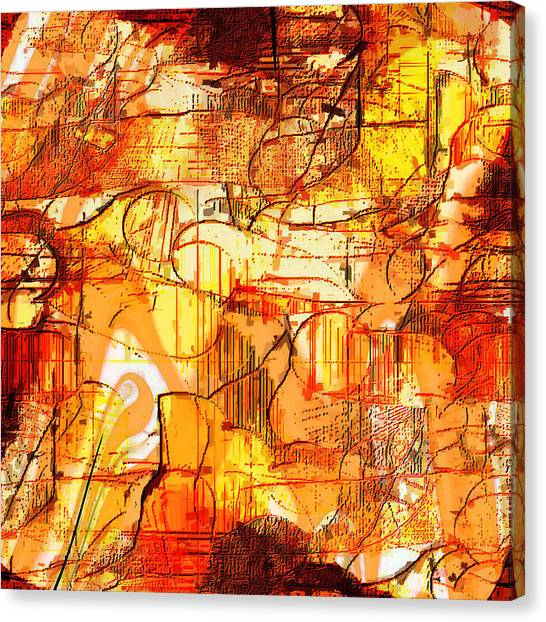 Dream Abstract Canvas Print by Ilona Burchard