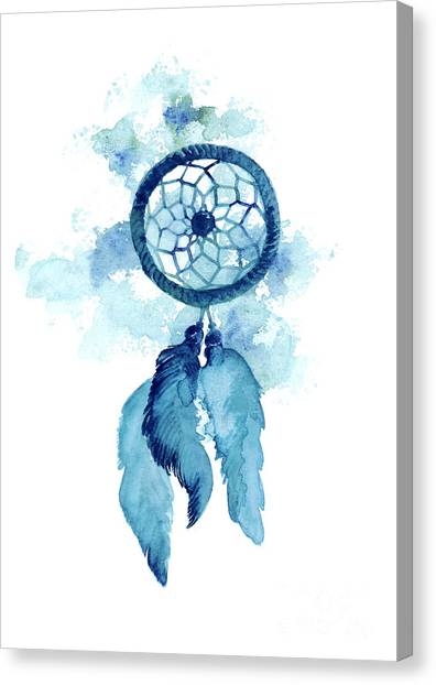 America Canvas Print - Dream Catcher Watercolor Art Print Painting by Joanna Szmerdt