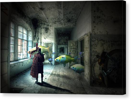 Bagpipes Canvas Print - Dream Factory by Nathan Wright