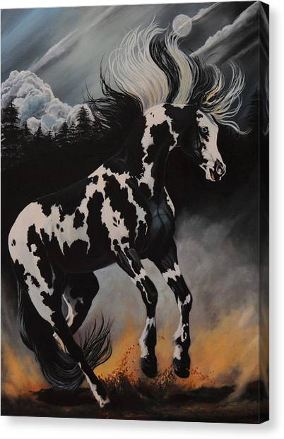 Dream Horse Series 12 - When Night Fall's Canvas Print
