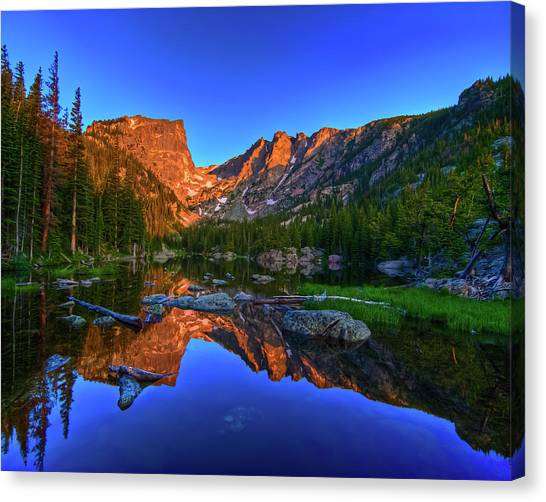 Dream Lake Sunrise Rocky Mountain Natl Park Canvas Print