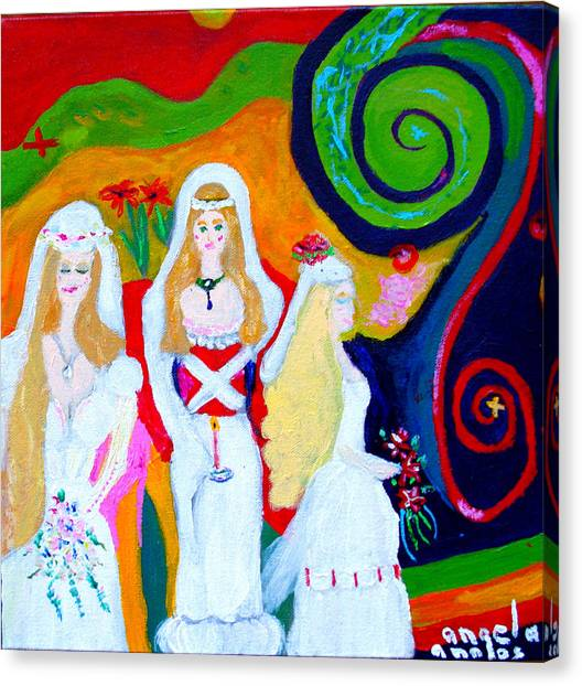 Dream Of A Jungian Marriage Canvas Print
