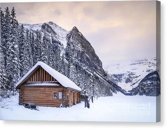 Log Cabin Canvas Print - Dream Of The Return by Evelina Kremsdorf