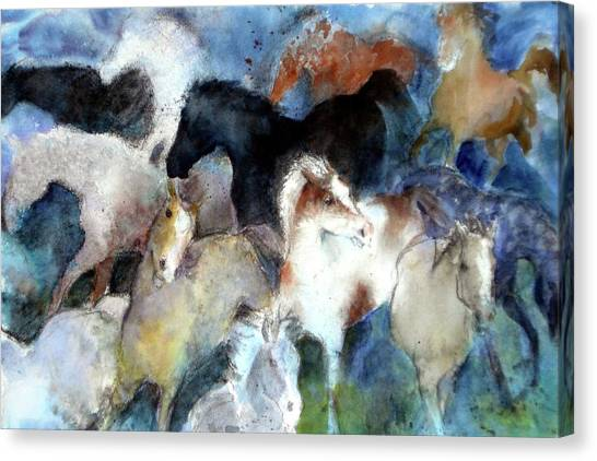Dream Of Wild Horses Canvas Print