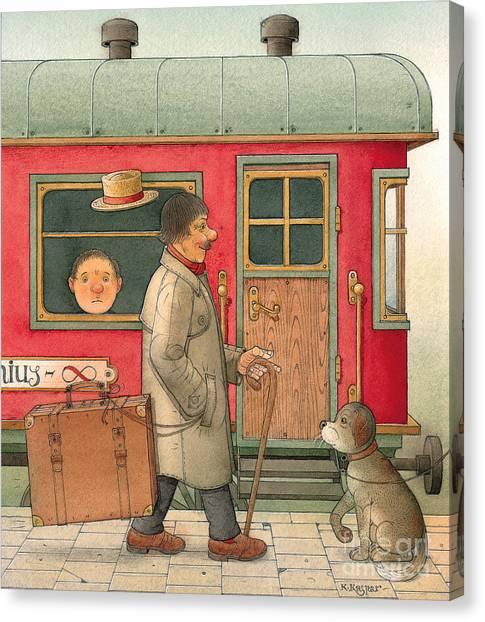 Dream Suitcase Canvas Print by Kestutis Kasparavicius