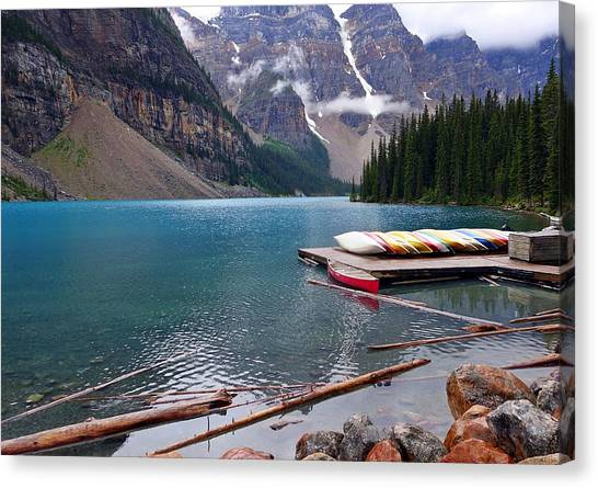 Moraine Lake, Ab  Canvas Print
