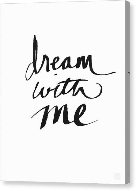 Sleep Canvas Print - Dream With Me- Art By Linda Woods by Linda Woods