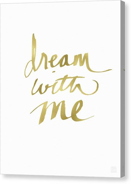 Sleep Canvas Print - Dream With Me Gold- Art By Linda Woods by Linda Woods