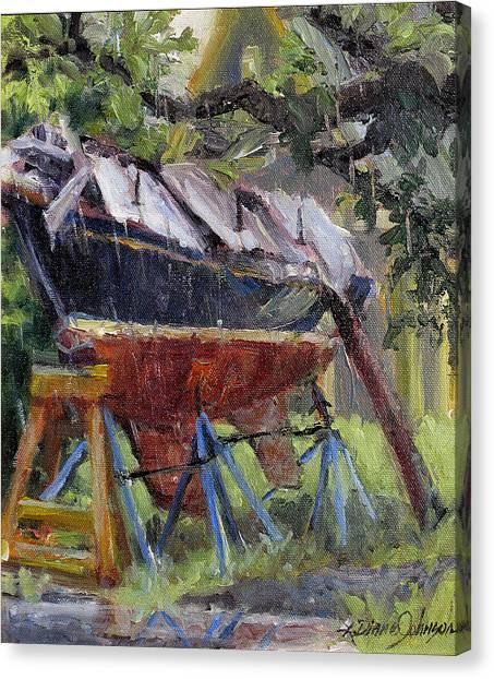 Dreamin' In The Rain Canvas Print by L Diane Johnson