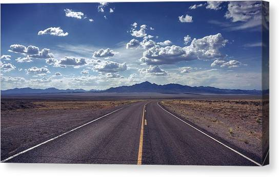 Dreaming About The Extraterrestrial Highway Canvas Print