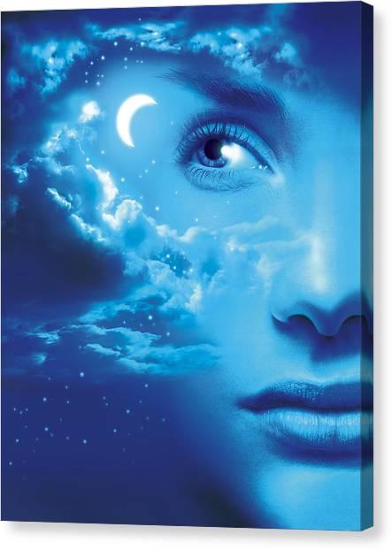 Dreaming, Conceptual Image Canvas Print by Smetek