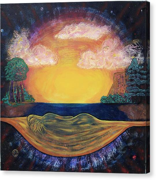 Dreaming Goddess Canvas Print by Eric Singleton