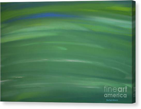 Floating In Green Canvas Print