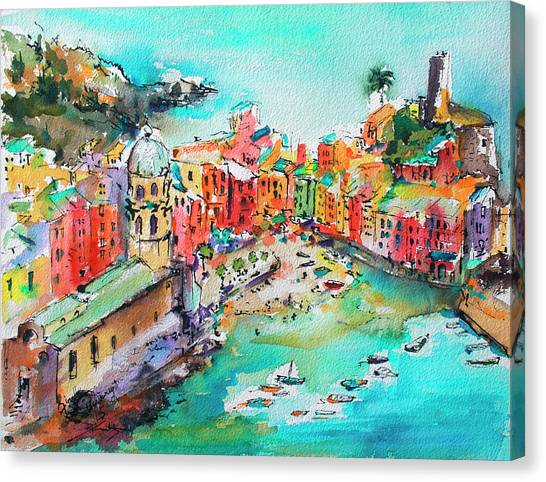 Dreaming Of Vernazza Cinque Terre Italy Canvas Print