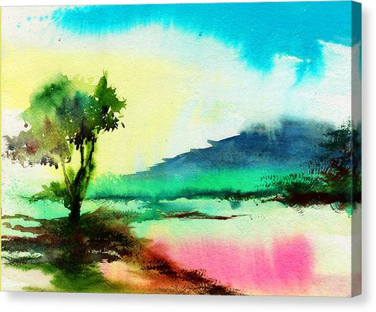 Bob Ross Canvas Print - Dreamland by Anil Nene
