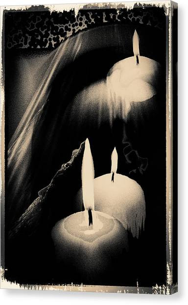 Dreams And Candlelight Canvas Print