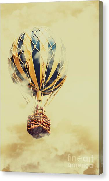 Hot Air Balloons Canvas Print - Dreams And Clouds by Jorgo Photography - Wall Art Gallery