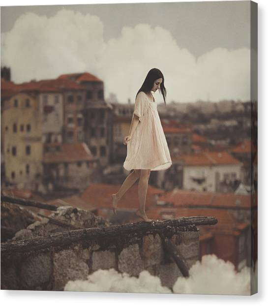Girl Canvas Print - Dreams In Old Porto by Anka Zhuravleva
