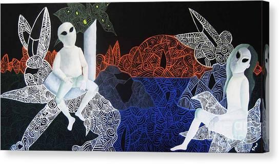 Alien Eyes Canvas Print - Dreams Of Broken Dolls by Reb Frost