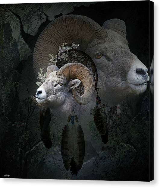 Dream Catcher Gallery Canvas Print - Dreams Of The Ram 2 by G Berry