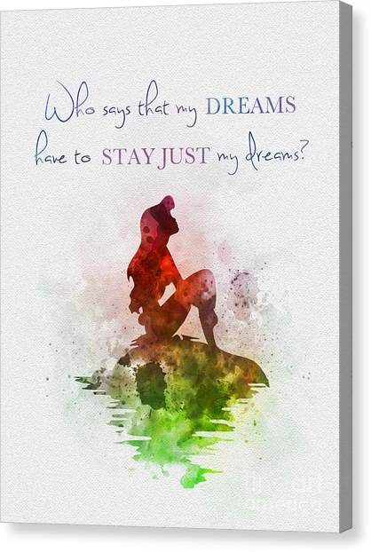 Mermaid Canvas Print - Dreams by Rebecca Jenkins