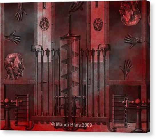 Dreamtime Of The Mechanism Canvas Print by Mandi Blais