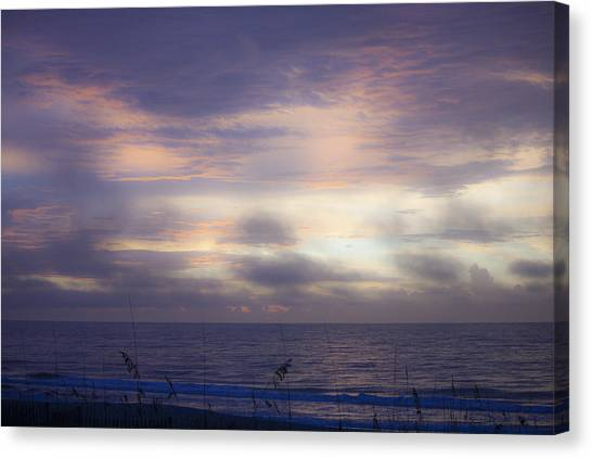 Dreamy Blue Atlantic Sunrise Canvas Print