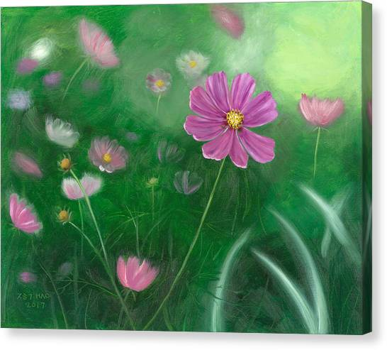 Cosmos Flowers Canvas Print
