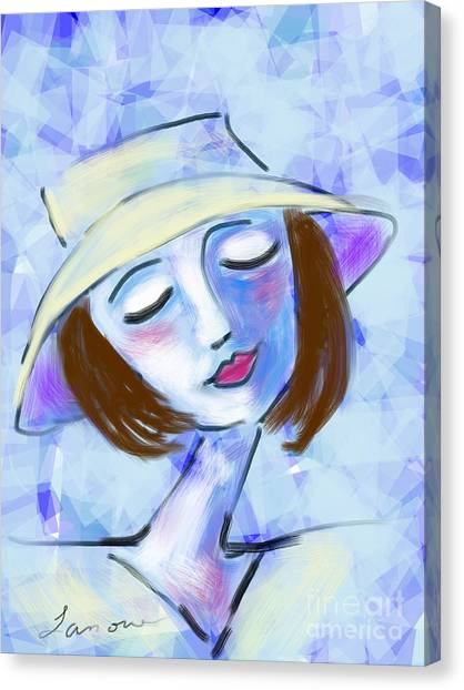 Dreamy Jeanne Canvas Print