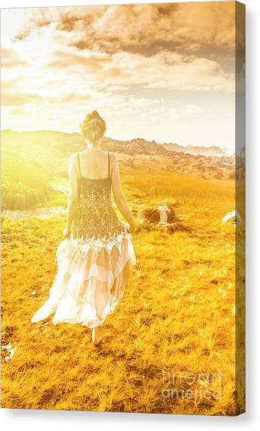 Young Adults Canvas Print - Dreamy Summer Fields by Jorgo Photography - Wall Art Gallery