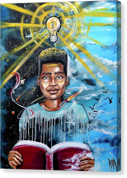 Schools Canvas Print - Drenched In Knowledge by Artist RiA
