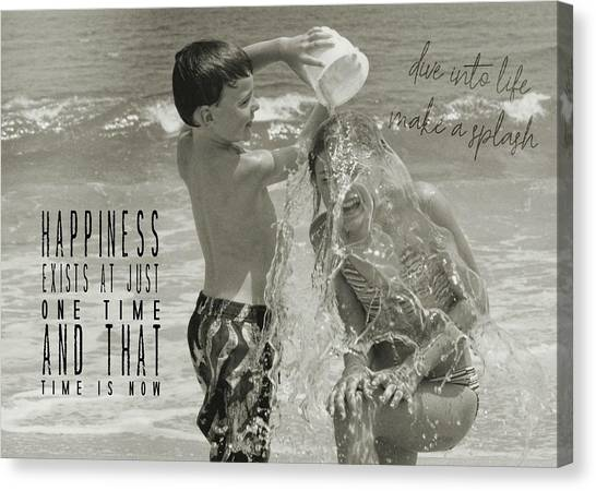 Drenched Quote Canvas Print by JAMART Photography