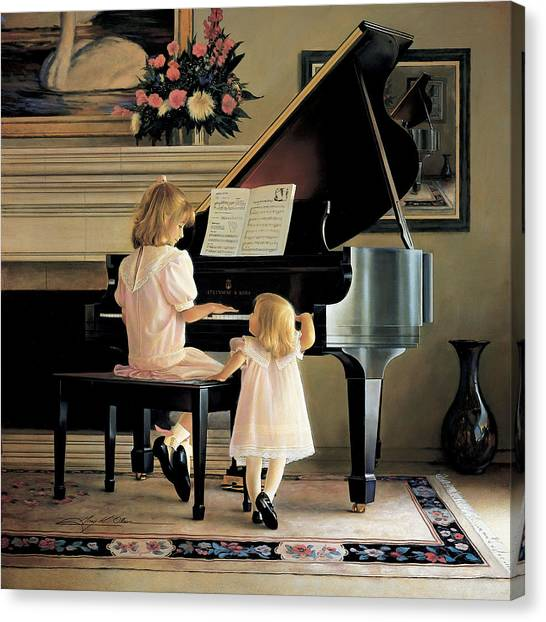 Girl Canvas Print - Dress Rehearsal by Greg Olsen