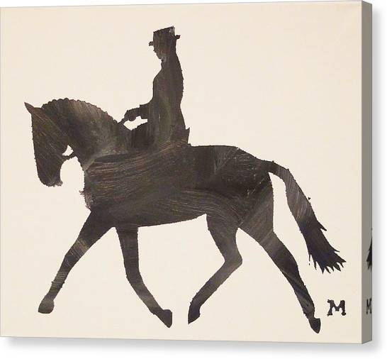 Dressage At Downton Canvas Print