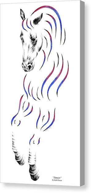 Dressage Horse Dancer Print Canvas Print