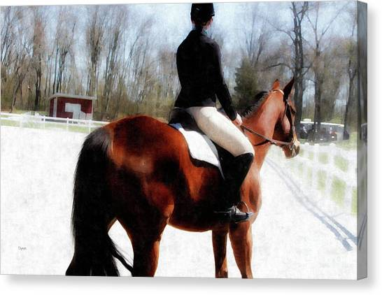 Dressage In Waiting  Canvas Print by Steven Digman