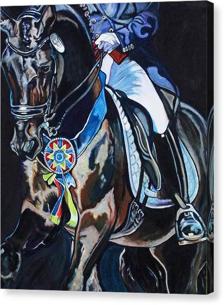 Dressage Stallion Canvas Print