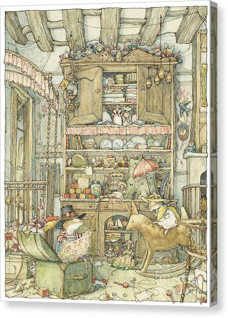 Mice Canvas Print - Dressing Up At The Old Oak Palace by Brambly Hedge