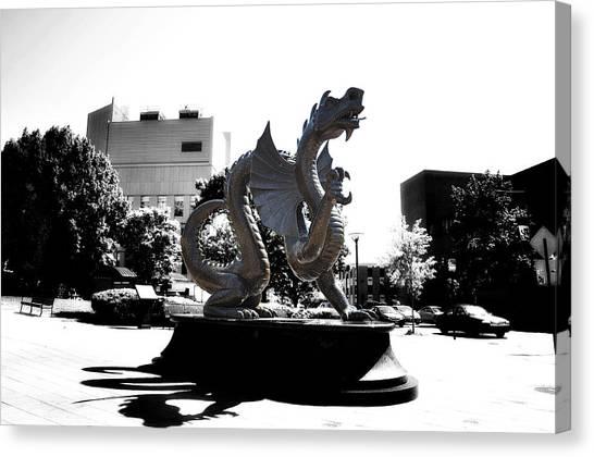 Drexel University Canvas Print - Drexel Dragon by Bill Cannon